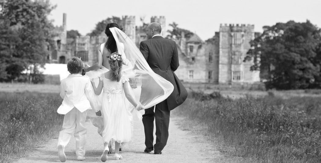 Wedding photo ruins